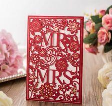 Personalised Lover Laser Cut Wedding Invitation Day Evening Invite Card Envelope