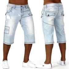 Pantaloni corti jeans uomo Caipirinha Denim Cargo Capri Vintage