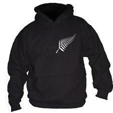 Nueva Zelanda NZ helecho con Capucha Sudadera Jumper Rugby-todos Los Tamaños