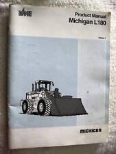 1992 MICHIGAN L180 END LOADER TRACTOR BROCHURE BOOK