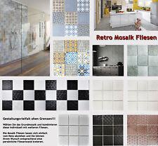 RETRO FLIESEN VINTAGE KERAMIK MOSAIK Wand Dusche Küche Fliesenspiegel BAD - Vigo