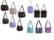New Womens Girls Ladies Holdall Travel Weekend Gym Sports Bag Hand Luggage Black