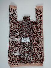 "T-Shirt Leopard Print Design Plastic Retail Shopping Bags Handles 11.5"" x6"" x21"""