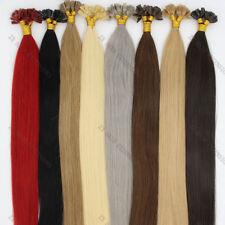 "U/Nail Fusion Keratin Tip Premium Remy Human Hair Extensions Straight 16-22"""