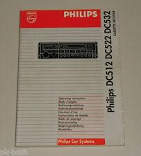 Betriebsanleitung Philips Autoradio DC512 DC522 DC532