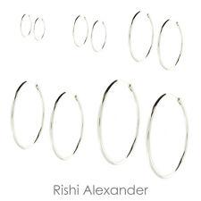 Children Endless Hoop Earrings 925 Sterling Silver Baby and