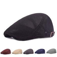 0a902f67d4b Summer Newsboy Cap Men s Breathable Mesh Hat Cabbies Beret Irish Flat Cap 6A