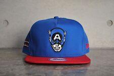 New Era Captain America Hero Face Blue/Red A Frame 9Fifty Snapback Cap