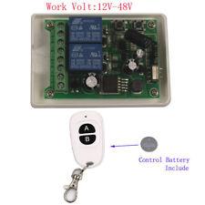 DC 12V-48V 24V Motor Starter Relay Switch Remote Control Transmitter Receiver