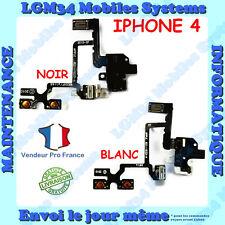 NAPPE PRISE JACK AUDIO + VOLUME + VIBREUR POUR IPHONE 4 NOIR OU BLANC