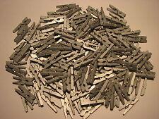 *** 1/10/20/40/60/80/160/400 - Mini Pinces à Linge en bois - 25 mm *** Argenté