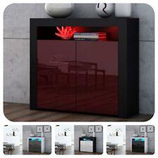 Modern 107cm Sideboard Cabinet Cupboard Buffet - High Gloss Doors - LED - K2D