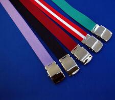 NUOVO grande cintura in tela 2XL 3XL 4XL 5XL 6XL 7XL BLU NAVY VERDE ROSSO BIANCO LILLA