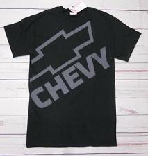T-shirt CHEVROLET Chevy logo con stampa GM nera S-M-L-XL