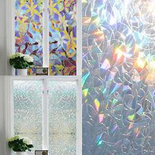3D Window Glass Film Sticker Static Frosted Self Adhesive Rainbow Sticker Decor