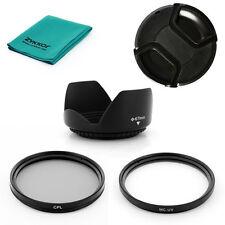 67mm Lens HOOD UV,CPL Filters,CAP,CLOTH for Nikon D80 D90 D5000 D7000 18-105mm