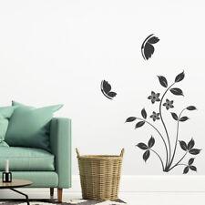 Wandtattoo Blumenranke Vanessa, Pflanzen, Blumen, Wandsticker, Wandaufkleber