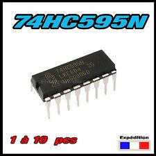 1546# 74HC595N, Registre à Decalage 8 bits, DIP-16  - 74HC595