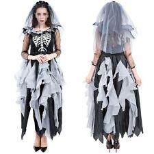 Ladies Zombie Bride Costume Adult Halloween Costume Skeleton Ghost Day of Dead