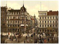Berlin Cafe Bauer Unter den Linden ca. 1890 Papier Leinwand