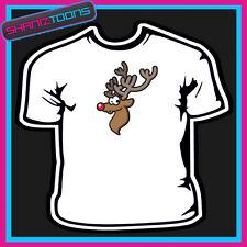 Navidad Reno Camiseta Para Niños Para Hombre & señoras tamaño
