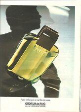 PUBLICITE ADVERTISING 1984 PUIG Quorum eau de toilette pour Homme         170112