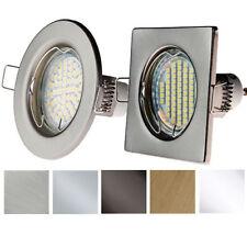 Einbau-Strahler GU10/GU5,3 Eckig Rund Einbau-Rahmen Einbau-Leuchte LED PARMA