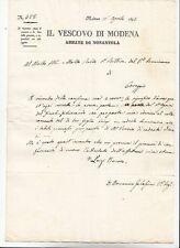 E633-MODENA IL VESCOVO ABBATE DI NONANTOLA 1845