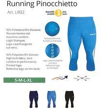 PINOCCHIETTO UOMO RUNNING PANTALONE CORSA GIVOVA FITNESS BLU NERO AZZURRO