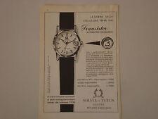 advertising Pubblicità 1959 OROLOGIO SOLVIL ET TITUS GENEVE TRANSISTOR