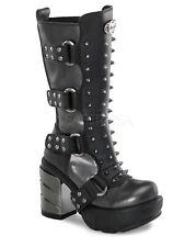 Demonia Stiefel Sinister Sin202 Boot Metallabsatz Gothic High Heel Plateau  5016