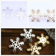 Or brillant / en argent coloré flocon de neige clous, multiple choix