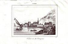 Kertsch Panticapaea Krim Ukraine Stahlstich 1840 Ansicht Schwarzes Meer