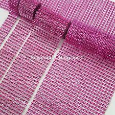 CERISE PINK  Diamante Bling Sparkling  Effect Wedding Cake Craft  Ribbon mesh