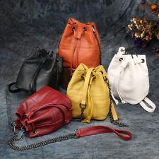 Womens Genuine Leather Handbag Shoulder Mini Chain Bucket Bag Satchel Hobo Tote