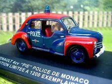 1/43 IXO Renault 4CV Police de Monaco