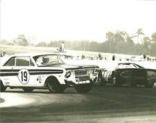 Vintage 8 X 10 Auto Racing Photo 1967 Daytona 24 Hrs Ford Falcon & Ferrari 365P2