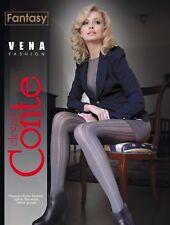 CONTE Tights Vena 40 Den | Fashion Fantasy Ajour Fancy Pantyhose | FREE Shipping