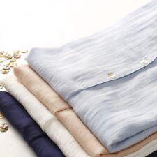 Women Linen Cotton Short Sleeve Shirt Vintage Tunic Blouse Sheer Thin Summer Top