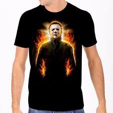 Michael Myers Halloween II Feu Flames Collage Noir T-Shirt Culte Classique