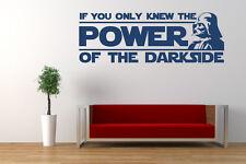 Star Wars Quote, Dark Side, Vinyl wall art sticker, Mural, Decal. Darth Vader