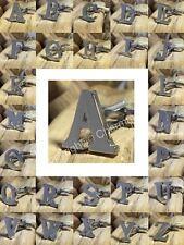 ALPHABET CUFFLINK A-Z Stainless Steel Letter WEDDING, Birthday Cufflinks *UK*