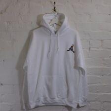 Biggie x Jordan Mic Slam Dunk Hip Hop Notorious BIG White Hooded Sweatshirt