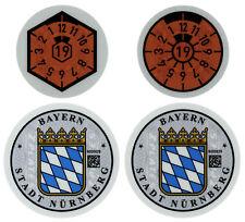 Nuremberg (Nürnberg) Germany License Plate Complete Sticker Set