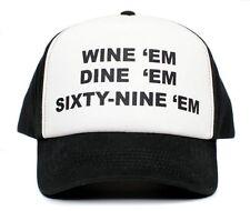 CUSTOM WINE 'em DINE SIXTY-NINE 69 Dumb and Dumber Sea-bass Hat Cap Curved Bill