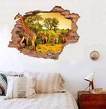 3D Giraffe sky 52 Wall Murals Stickers Decal breakthrough AJ WALLPAPER AU Lemon
