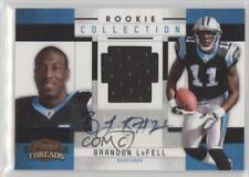 2010 Panini Threads 5 Brandon LaFell Carolina Panthers Auto Rookie Football Card