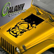 Blackout Hood Decal For Jeep Wrangler - Military Skull Sticker TJ LJ JK