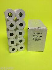 57x40mm MACHINE TILL CREDIT CARD PDQ THERMAL PAPER ROLLS RECEIPT JUST EAT CASH