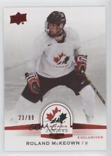 2014-15 Upper Deck Team Canada Juniors Exclusives 134 Roland McKeown Hockey Card
